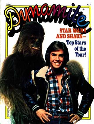 (Chewbacca pictured with Shaun Cassidy)